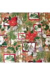 CSENDES ÉJ, karácsonyi mintás pamutvászon