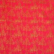 Skót kockás piros mintás, karácsonyi pamutvászon