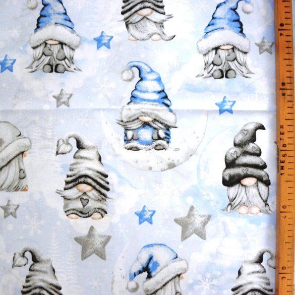 NAGY MANÓ, extra széles, karácsonyi mintás pamutvászon - kék
