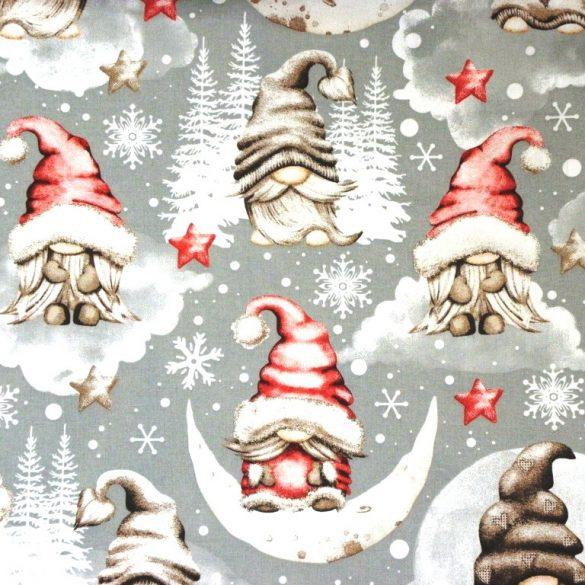 NAGY MANÓ, extra széles, karácsonyi mintás pamutvászon - piros