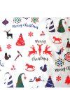 MERRY, extra széles, karácsonyi mintás pamutvászon