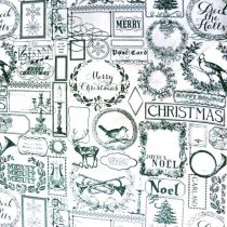 Karácsonyi mintás  lakástextil dekorációs anyag, piros-szürkésdrapp