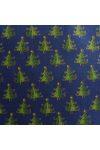 ABIETE, kis fenyőfás kék karácsonyi pamut-poliészter vászon anyag