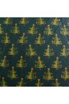 ABIETE, kis fenyőfás zöld karácsonyi pamut-poliészter vászon anyag