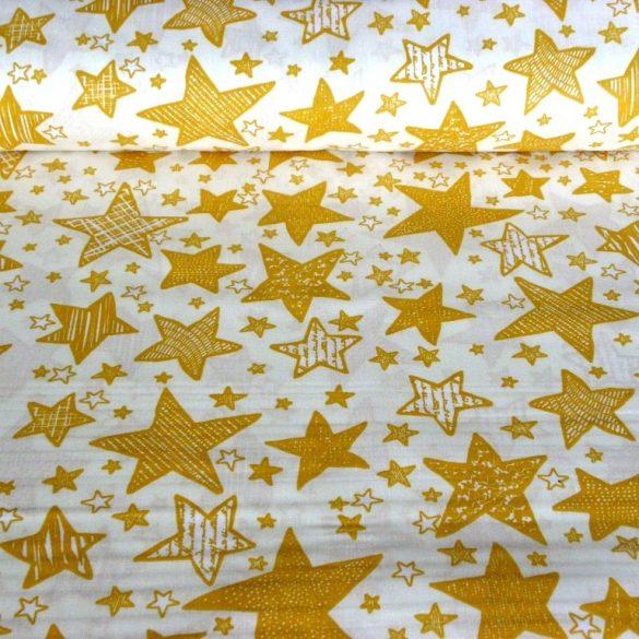 NAGYCSILLAG,  karácsonyi pamut-poliészter vászon anyag, ekrü