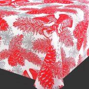 TÉLI TÁJ, karácsonyi mintás lakástextil dekorációs anyag