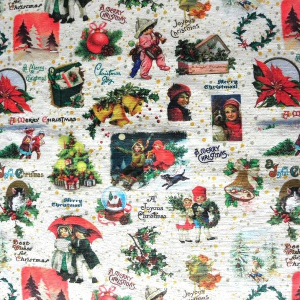 NOSZTALGIA karácsony lakástextil dekorációs anyag