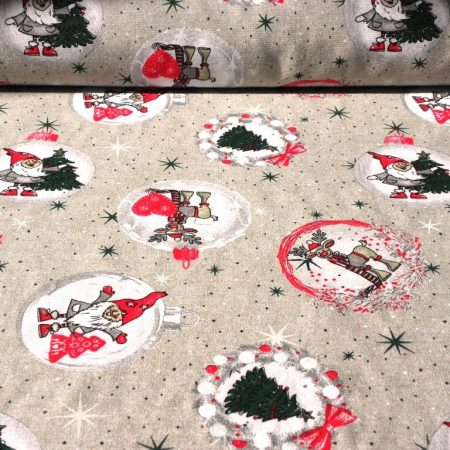 COLLAGE, karácsonyi patchwork, szürke-piros