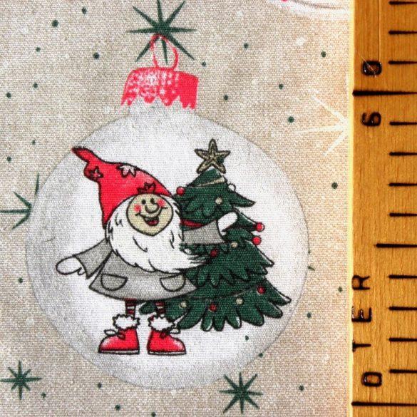 GNOMO, karácsonyi mintás lakástextil dekorációs anyag