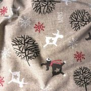 FROZEN, szarvas mintás karácsonyi lakástextil dekorációs anyag