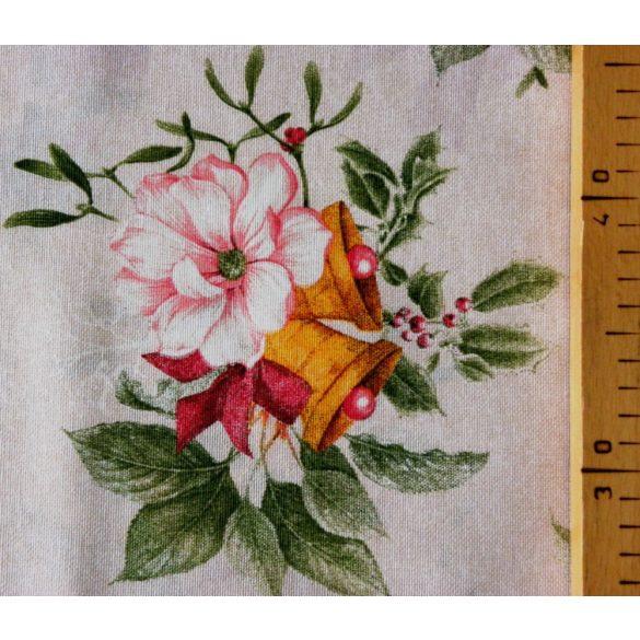 CHRISTMAS PLANTS, csokros mintás karácsonyi lakástextil dekorációs anyag