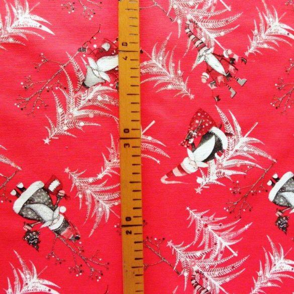 SANTA,  karácsonyi lakástextil dekorációs anyag, piros