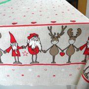 RENNE, bordűrös, karácsonyi lakástextil dekorációs anyag