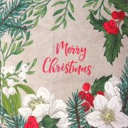 DEER, karácsonyi mintás díszpárna panel