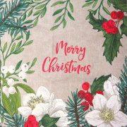 MERRY, karácsonyi mintás díszpárna panel