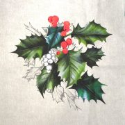 HOLLY, karácsonyi mintás díszpárna panel