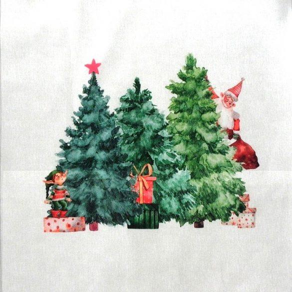 TREE, karácsonyi mintás díszpárna panel