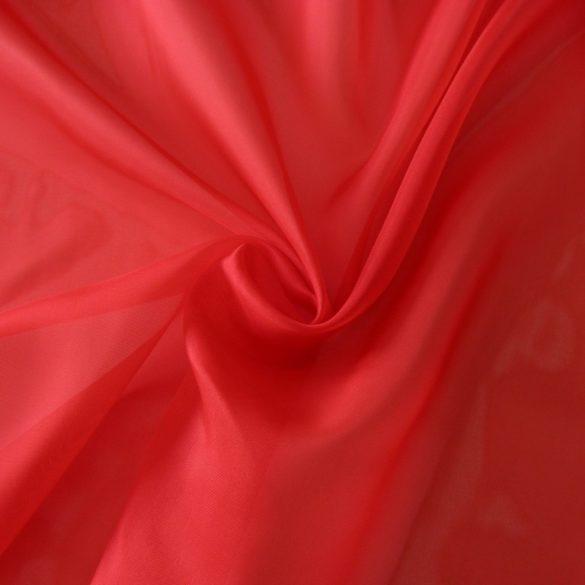 Piros voile, fényáteresztő függöny anyag, 180 cm magas