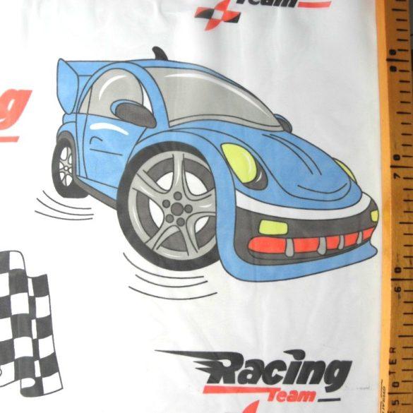 Racing, versenyautós gyerekmintás voile