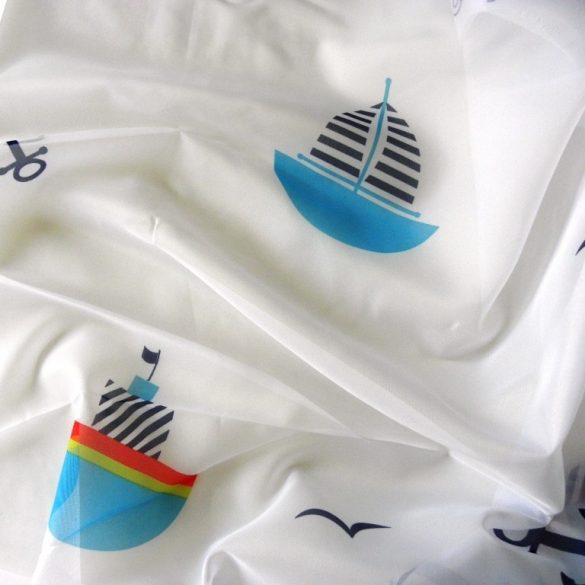 AHOY, hajós gyerekmintás voile, fényáteresztő függöny anyag