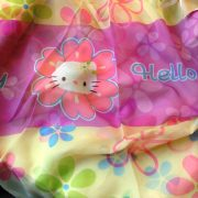 Hello Kitty virág mintás, nyomott voile függöny anyag - 220 cm magas