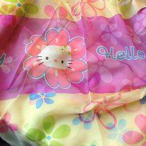 Hello Kitty virág mintás, nyomott voile függöny anyag