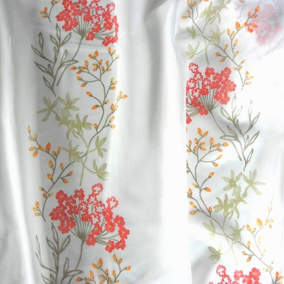 VERBENA, printed floral pattern, light-transmitting, sable curtain material