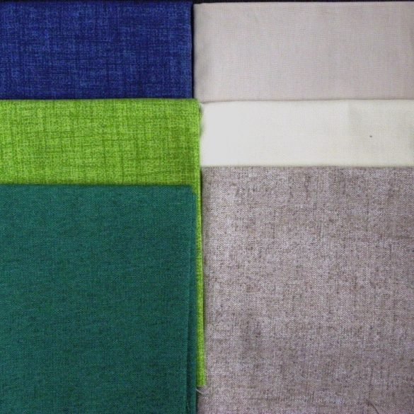 Maradék lakástextil anyag csomag - egyszínű, vegyes