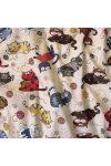 Cicás, gyerekmintás pamut-poliészter vászon méteráru