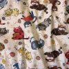 Cicás, gyerekmintás pamut-poliészter vászon méteráru, maradék darabok