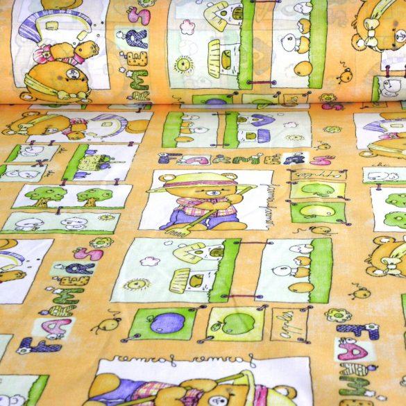 Farmer macis sárga kevertszálas vászon