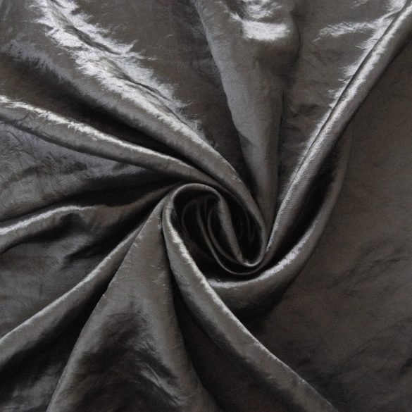 Gyűrt taft,  sötétítő, dekorációs anyag - ezüst