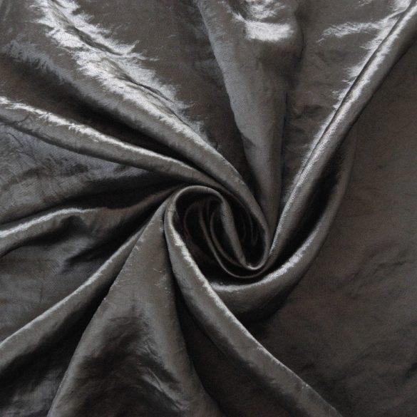 Gyűrt taft,  sötétítő, dekorációs anyag - ezüst - maradék darab: 0,35 m