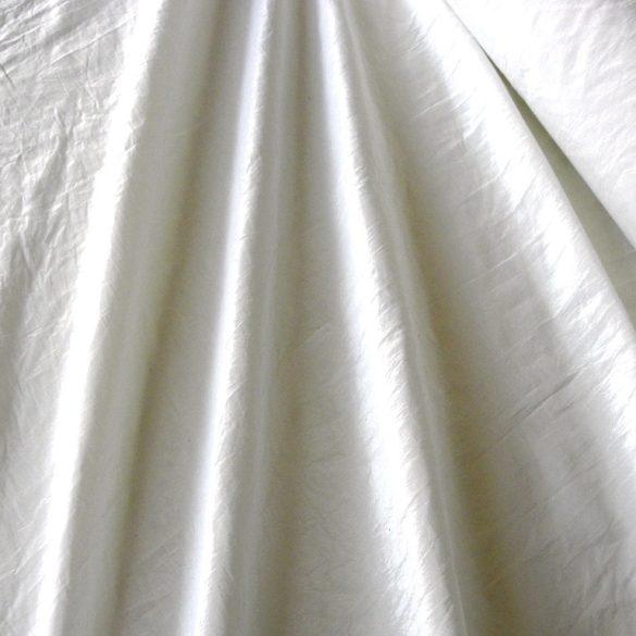 Gyűrt taft, sötétítő, dekorációs anyag - fehér