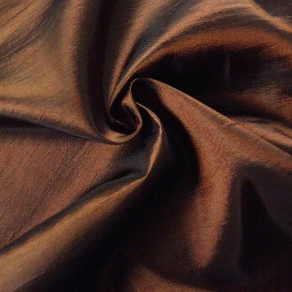 Gyűrt taft, sötétítő, dekorációs anyag - aranybarna - mardék darabok