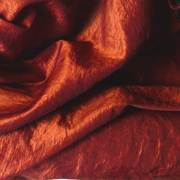 Gyűrt taft,  sötétítő, dekorációs anyag - narancs