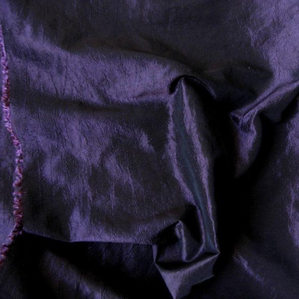 Gyűrt taft,  sötétítő, dekorációs anyag - lila