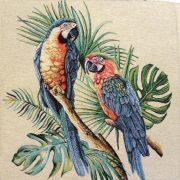 Papagáj, jacquard párna panel