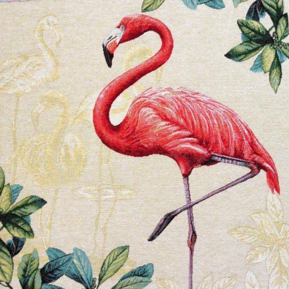Flamingó, jacquard párna panel