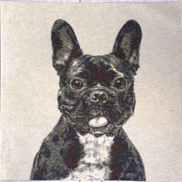 BULLY francia bulldog jacquard párna panel
