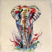 Elefánt jacquard párna panel