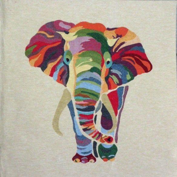 FÁNI, elefánt mintás jacquard párna panel