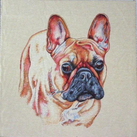 BRUTUS, francia bulldog mintás jacquard párna panel
