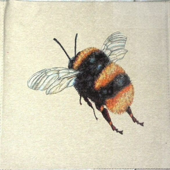 ZÜMI, méhecske mintás jacquard párna panel