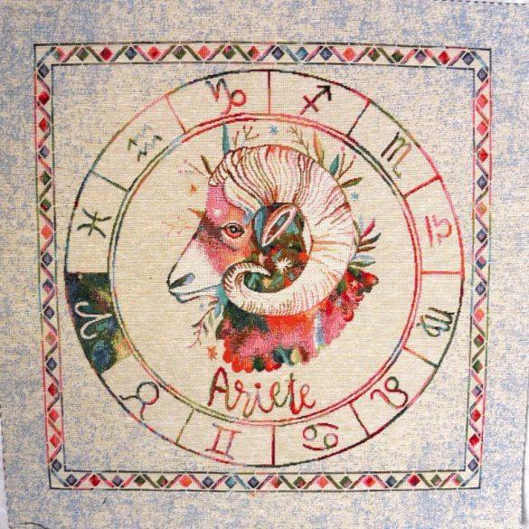 Horoszkóp, jacquard párna panel - kos