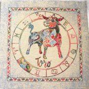 Horoszkóp, jacquard párna panel - bika