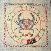 Horoszkóp, jacquard párna panel - rák