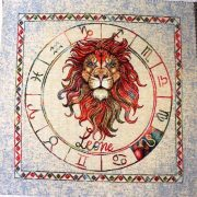Horoszkóp, jacquard párna panel - oroszlán