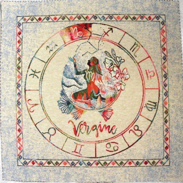 Horoszkóp, jacquard párna panel - szűz