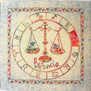 Horoszkóp, jacquard párna panel - mérleg